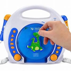 Mp3 Player Fuer Kinder : x4 tech cd player f r kinder 2 mikrofone blau weiss orange mp3 sd karte usb ebay ~ Sanjose-hotels-ca.com Haus und Dekorationen