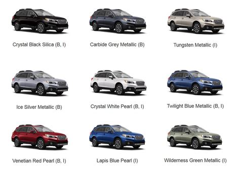 subaru forester 2016 colors 2016 outback colors jpg subaru outback 2017 pinterest