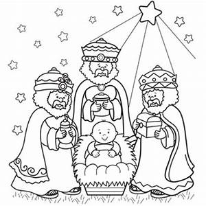 Three Wise Men Coloring Page Free Christmas Recipes
