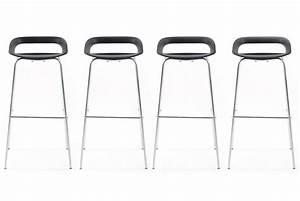 Tabouret De Bar Pas Cher : lot de 4 tabourets de bar famous noir design sur sofactory ~ Dailycaller-alerts.com Idées de Décoration