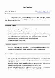 sample resume java developer 1 year experience resume With sample resume for java developer 2 year experience