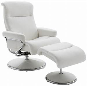 Fauteuil relax blanc design joa detente for Fauteuil cuir blanc design
