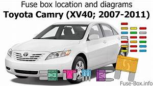 Fuse Box Location And Diagrams  Toyota Camry  Xv40  2007