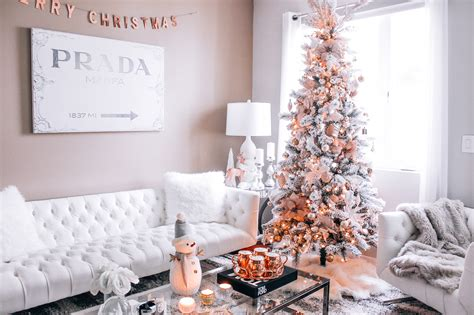 update  holiday decor   rose gold