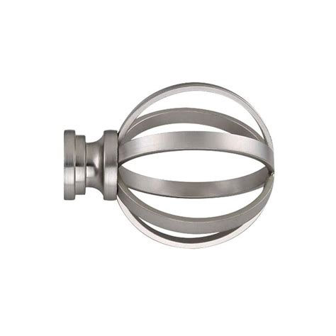 Allen Roth Curtain Rod Ends shop allen roth 2 pack brushed nickel steel curtain rod