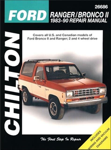 how to download repair manuals 1984 ford bronco ii lane departure warning ford ranger bronco ii shop repair manual 1983 1990 chilton 26686