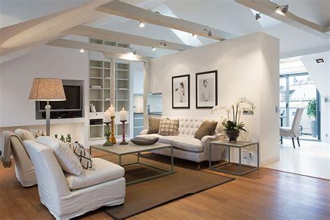 idee salon cosy beige  blanc maisonappartement