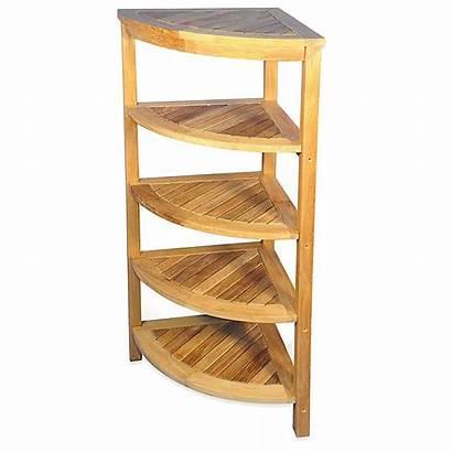 Corner Teak Unit Shelf Solid Bath Bed