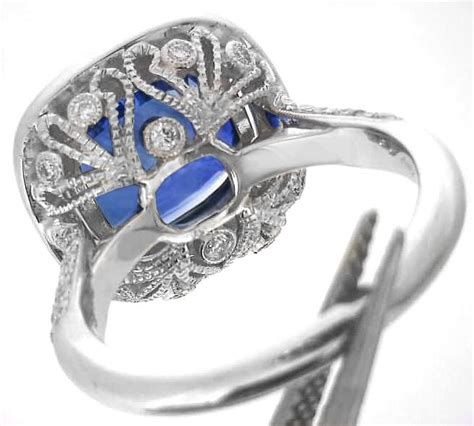 large   carat cushion cut ceylon sapphire