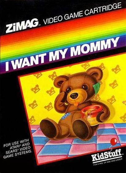 Bad Want Mommy Covers Box Atari 2600