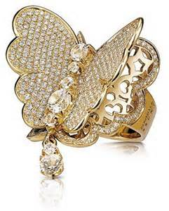 Gold Butterflies Ring Jewelry