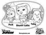 Sheriff Coloring Wild West Disney Callie Junior Sheets Vampirina Toby Peck Colouring Printable Howdy Partner Jr Dvd Mamasmission Callies Printables sketch template