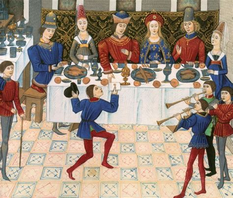 l de la table la cuisine du moyen age