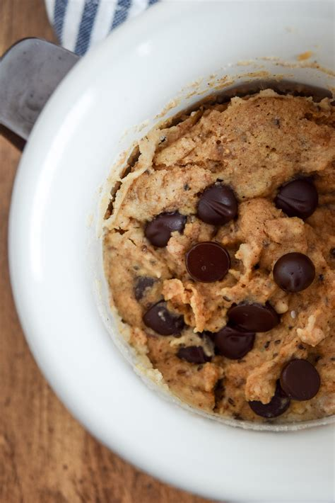6-Ingredient Almond Butter Chocolate Chip Mug Cake (Dairy