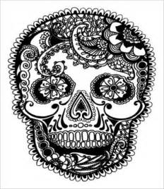 Adult Coloring Books Skulls