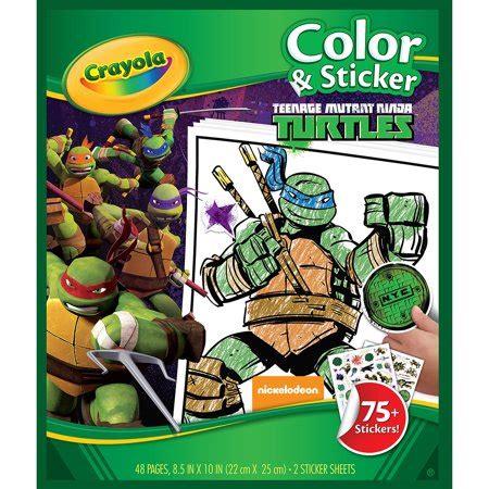 color  sticker book teenage mutant ninja turtles