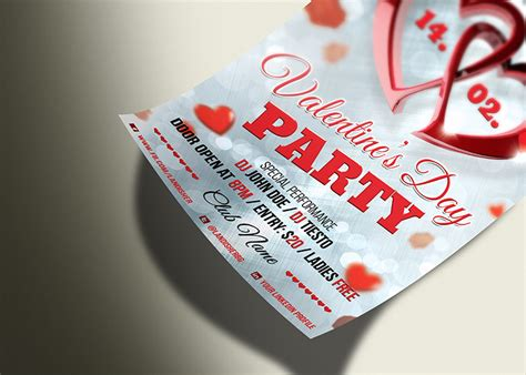 valentines day psd flyer template landisher