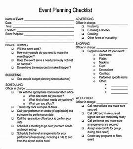 event planning checklist 7 free download for pdf With how to plan an event template