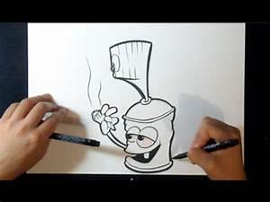 comment dessiner bombe de peinture fumeur youtube With bombe de peinture graffiti