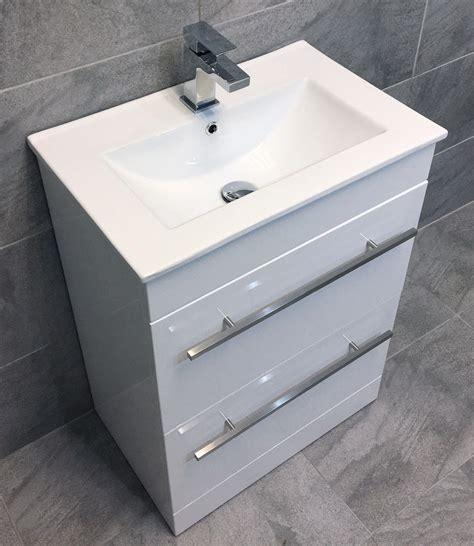 Bathroom Sink And Vanity Unit - savu 600mm square vanity unit ceramic basin sink