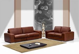 Canapé Cuir Contemporain : canape cuir contemporain maison design ~ Teatrodelosmanantiales.com Idées de Décoration