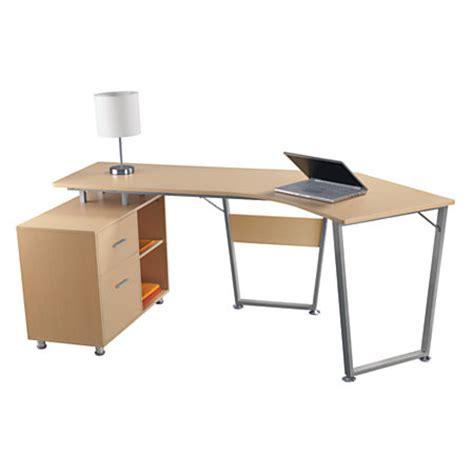 realspace brent dog leg desk oak by office depot officemax