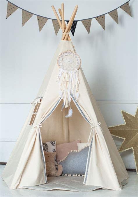 Tipi Zelt Kinderzimmer Dawanda by Kinderzimmerdekoration Das Tipi Quot Grau Ponponband