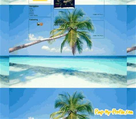 Tropical Beach Tumblr Themes Pimpmyprofilecom