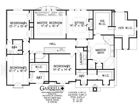4 bedroom ranch style house plans crest house plan estate size house plans