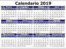 Ilustración de Español Calendario 2019 Horizontal y más
