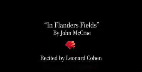 flanders fields  john mccrae recited  leonard