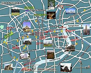 Shanghai Attractions Map, Maps of Shanghai Tourist Spots