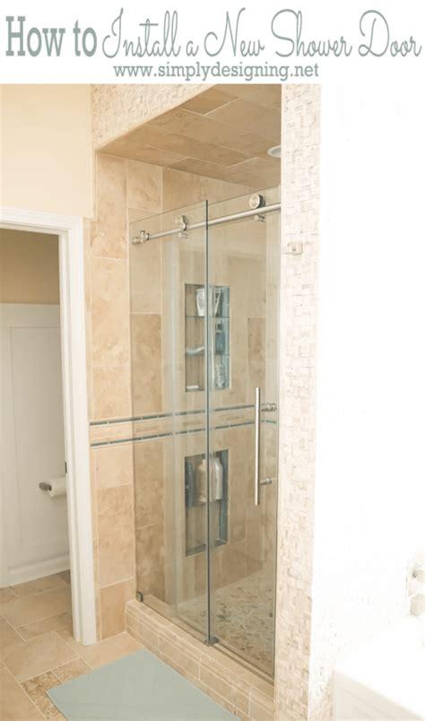 How To Replace Shower Door - how to install a new shower door