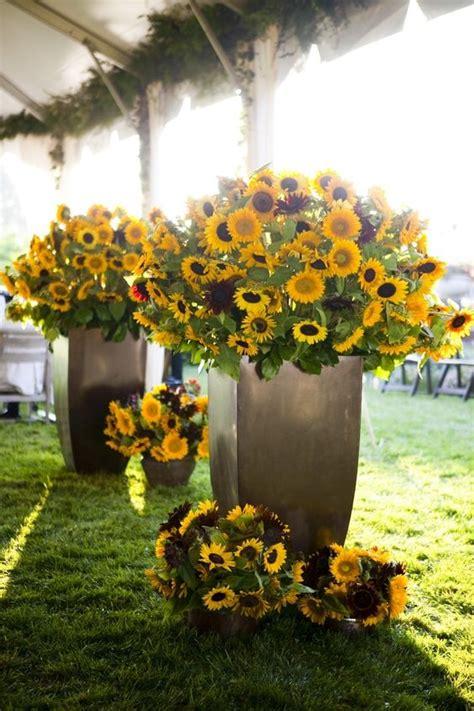 sunflowers wedding flower centerpieces  decor wedding