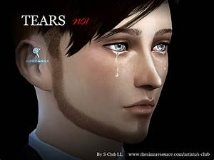 The Sims Resource: Tears 01 by S-Club • Sims 4 Downloads
