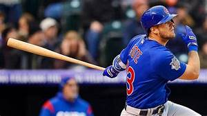 Cubs rookie David Bote doubles in first major league at ...