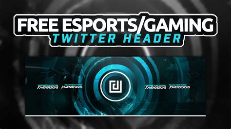 Twitter Header Photoshop Template Free 2017 by Esports Gaming Twitter Header Template Photoshop 2016