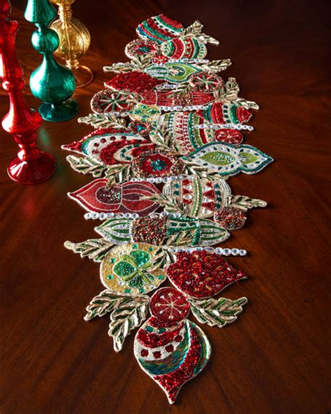how to make a beaded table runner kim seybert ornament table runner