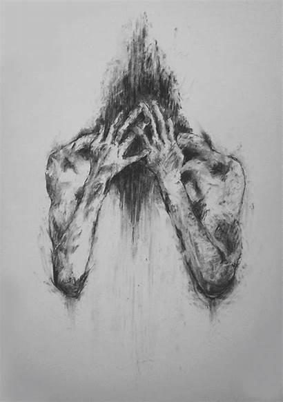 Drawings Drawing Dark Sketches Anxious Charcoal Harris