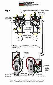 Electrical - How Do I Wire 3 Way Switches Where The Power Comes In At The Light