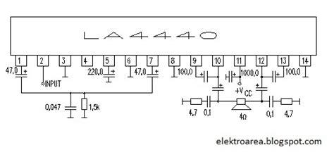 rangkaian lifier la4440 koleksi skema rangkaian artikel elektronika