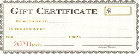 Free Gift Certificate Template Blank Gift Certificate Template Mughals