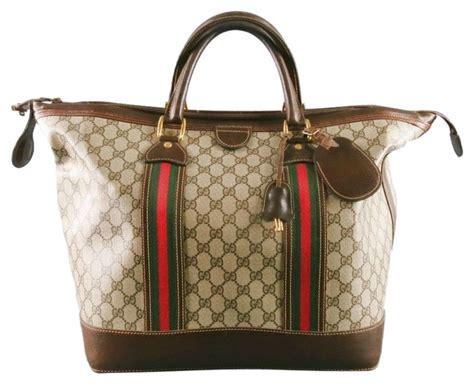 gucci vintage gucci canvas bag beige gucci weekendtravel bags tradesy