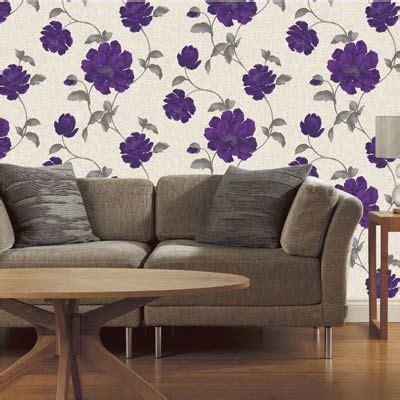 luella floral biscuit  purple wallpaper  fine
