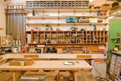 One-wall Workshop Woodworking Plan We Used Standard Garage