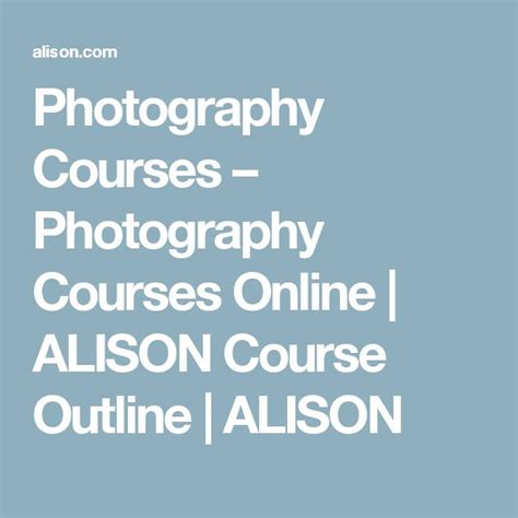 Best 25+ Free Photography Courses Ideas On Pinterest