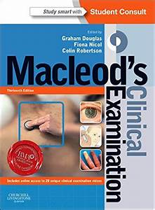 Macleod U0026 39 S Clinical Examination  With Student Consult Online Access  13e  Amazon Co Uk  Graham