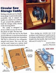 Circular Saw Storage Caddy • WoodArchivist