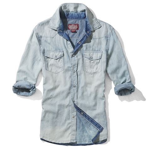 fitted hoodie mens mens washed fitted sleeve denim shirts cw114220