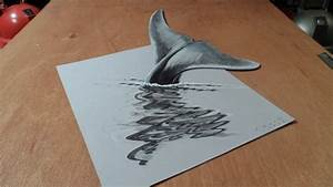 Art 3D Drawing Blue Whale, How to Draw 3D Whale? - YouTube